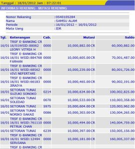 CARA MEMBUAT REKENING BANK PALSU