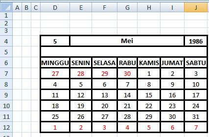 Tips and Trik: Cara Membuat Kalender Menggunakan Formula